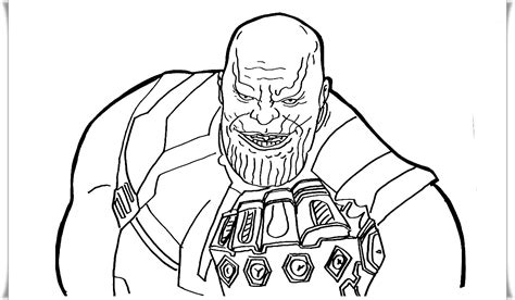 thanos coloring pages coloring home