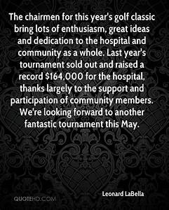 Leonard LaBella... Leonard Community Quotes