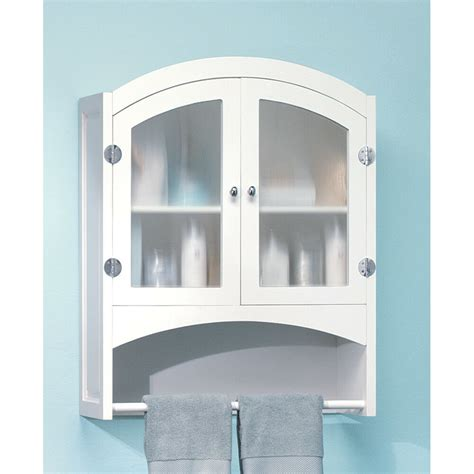Bathroom Wall Cabinet With Towel Bar white wood bathroom linen wall cabinet with towel rack ebay
