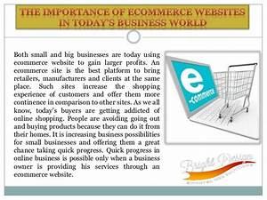 The Importance of ecommerce websites in today's business world