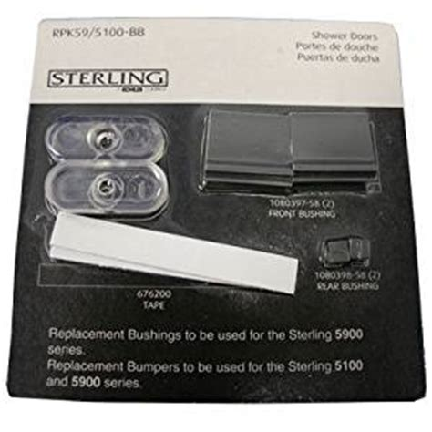 sterling shower door parts kohler replacement parts kit for sterling 5100 and 5900