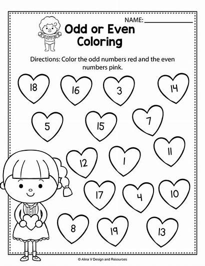 Odd Worksheets Even Grade Math Kindergarten 1st