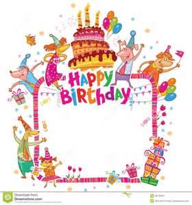 happy birthday card stock vector image 49740367