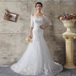wedding dresses for womens aliexpress buy dress 2015 curvy free shipping white half sleeve modest wedding