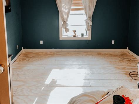 diy white painted plywood floors fontaine farmhouse