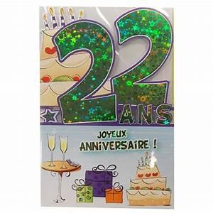 Cadeau Homme 22 Ans : texte carte anniversaire 22 ans ~ Teatrodelosmanantiales.com Idées de Décoration