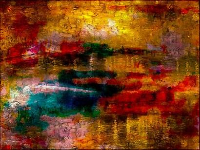 Abstract Texture Colorful Painting Modern Paint Autumn