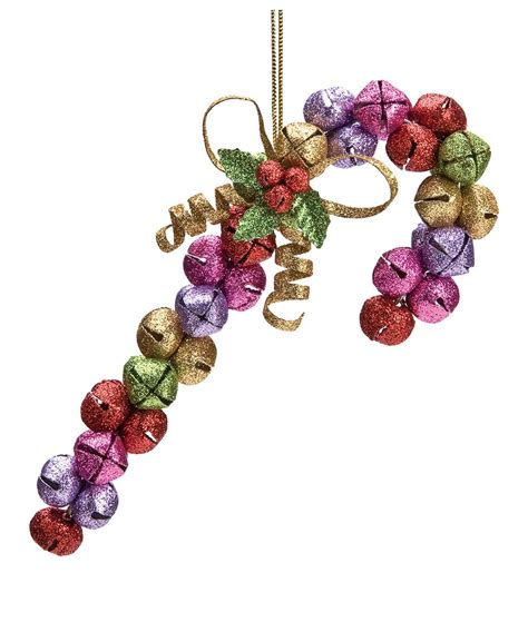 jingle bell ornaments to make jingle bell candy cane ornament