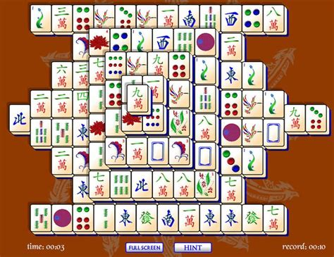 Mahjong Solitaire Tile Setup by Match Tiles In Puzzle Mahjong Solitaire Mahjong Is A