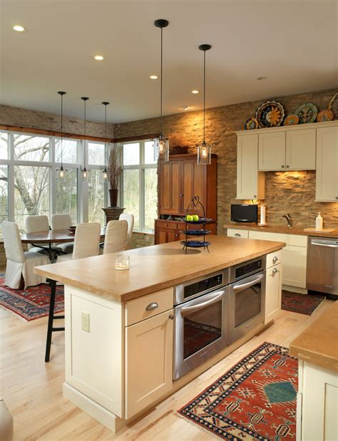Under Counter Double Oven Kitchen Traditional With Dark