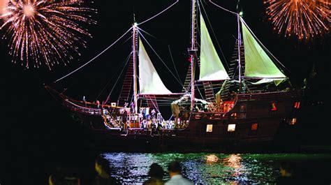 pirates   bay night  pirate ship puerto vallarta
