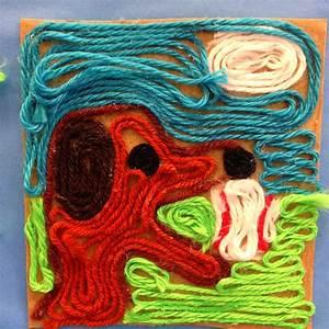 The Art Classroom at Rockland Woods: Huichol Yarn Paintings