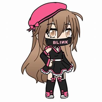 Gacha Anime Kawaii Outfits Gachalife Character Stickers
