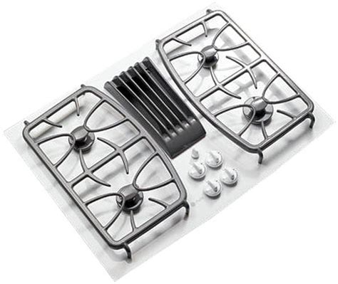 ge gas cooktop grates ge profile 30 quot built in gas downdraft cooktop pgp989tnww