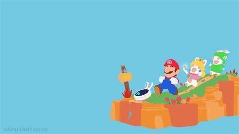 Animated Mario Wallpaper - i made a mario rabbids minimalist wallpaper 4k