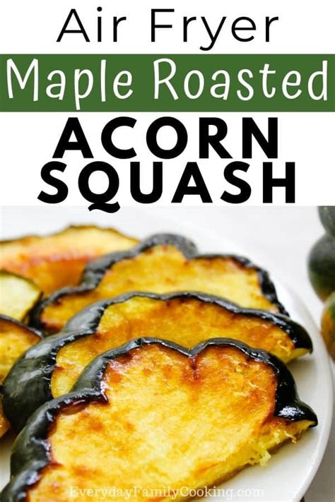 squash acorn roasted air fryer maple slices sides