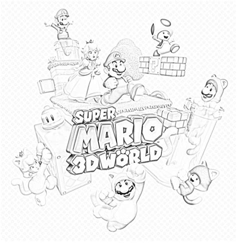 Mario 3d World Kleurplaten coloring pages mario 3d world coloring home