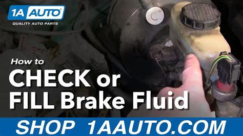 auto repair    check  add brake fluid   car