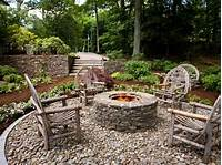 outdoor fire pit design Rustic Style Fire Pits   HGTV