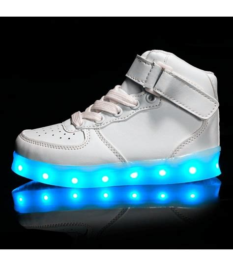 kids sneakers with lights glidekicks kids juniors white high tops led sneakers