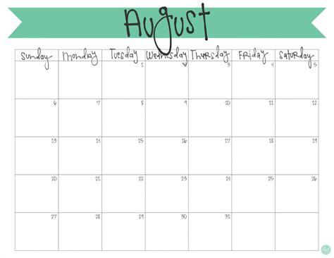 august  calendar  printable  craft eat