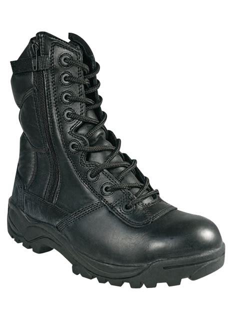 chaussure de cuisine noir rangers cuir noir 2 zips surplus militaire