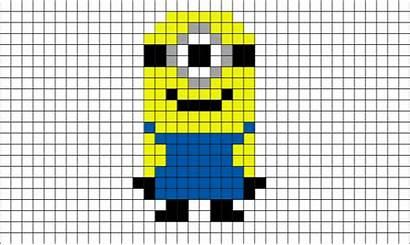 Pixel Minion Minions Minecraft Lego Bit Brik