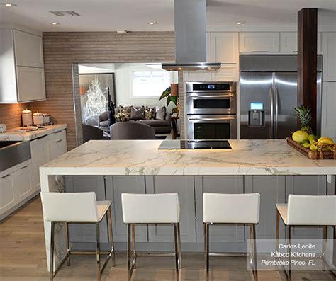 white cabinets   gray kitchen island masterbrand