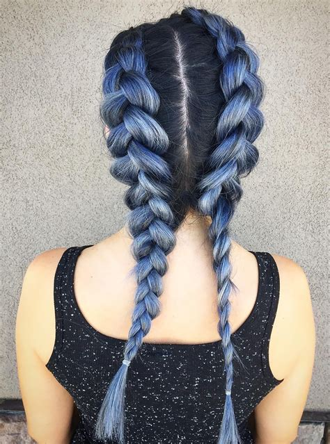 Image result for coloured fishtail braid
