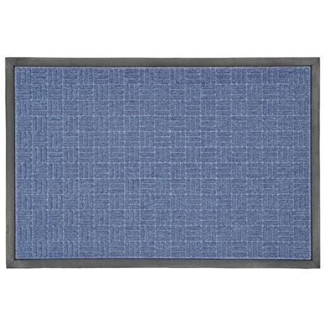 business doormats trafficmaster 23 5 in x 35 5 in blue rubber commercial