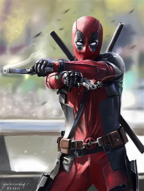 Deadpool Movie  Fanart Digital Painting By Vurdem On