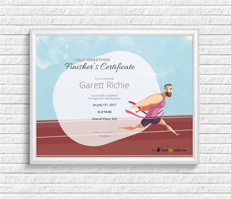 finishers certificate award template certifreecates