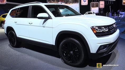 volkswagen atlas white 2018 volkswagen atlas sel exterior and interior