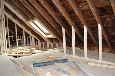 the house the attic with its cathedral ceilings