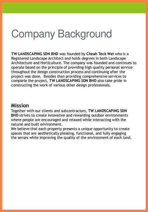 engineering company profile sample company letterhead