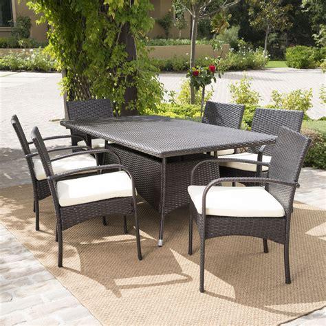 patio furniture 7 dining set 7 outdoor patio furniture multibrown wicker