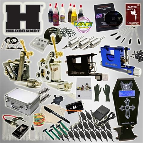 HILDBRANDT Professional Complete Tattoo Kit 4 Machine COIL