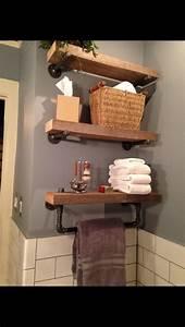Etagere En Bois Salle De Bain : id e d coration salle de bain tag res de salle de bain ~ Dailycaller-alerts.com Idées de Décoration