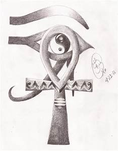 How to Draw a ankh | Egyptian Ankh and Eye of Horus Yin ...