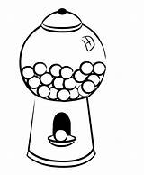 Gumball Machine Gum Coloring Bubble Drawing Clip Clipart Cliparts Template Popular Printable Getcolorings Clipartmag Templates sketch template
