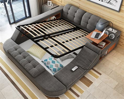the ultimate bed with integrated chair speakers