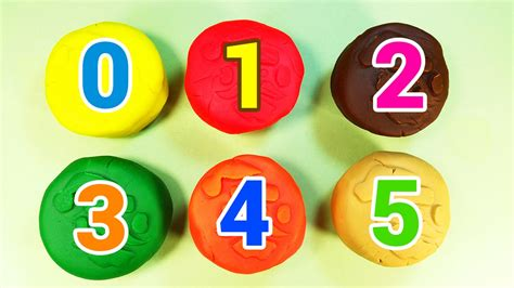 Learn Numbers With Play-doh Santa Claus Circles