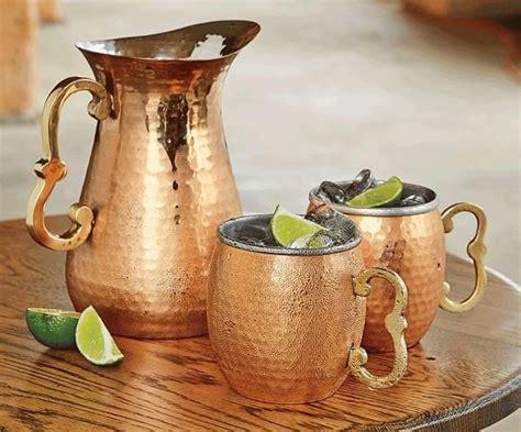 body    glass  water   morning     copper jug copper