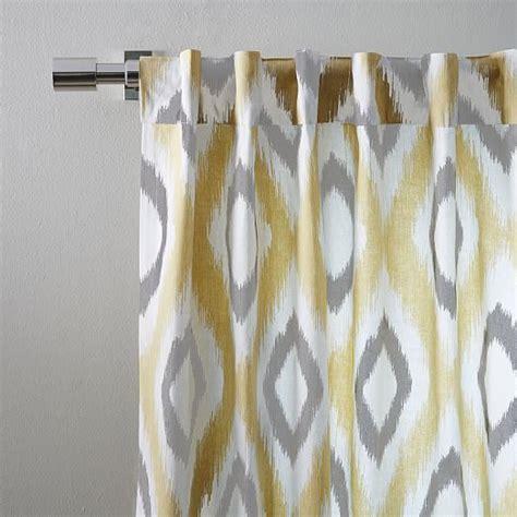 cotton canvas ikat curtain horseradish west elm