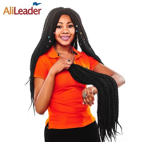 Alileader Senegalese Twist Hair Crochet Braids Heat