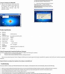 Kcr Technology K1280 Wireless Bluetooth Keyboard User Manual