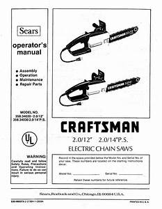 Craftsman 35834020 User Manual Electric Chain Saws Manuals