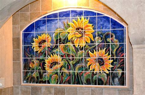 Custom Kitchen Backsplash Murals & Hand Painted Tiles in