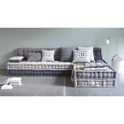 futon du monde 6 seater cotton modular corner day bed in grey in 2019