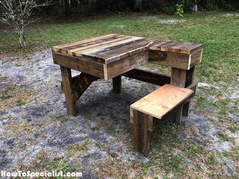 diy recycled wood shooting bench howtospecialist